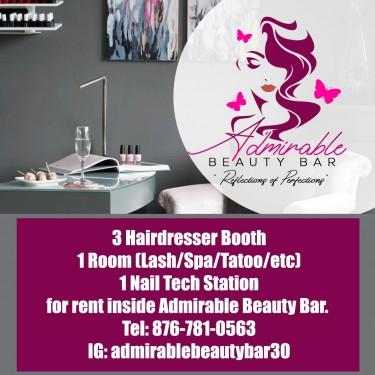 1 Hairdresser, 1 Nail Tech Station  & 1 Room