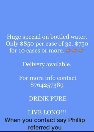 CHEAP CHEAP CHEAP Cases Of Bottled Water