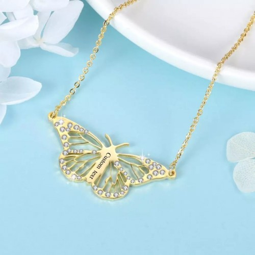 Butterfly Shaped Custom Necklace