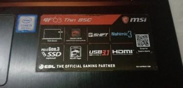MSI GF 63 Thin 85C Gaming Laptop
