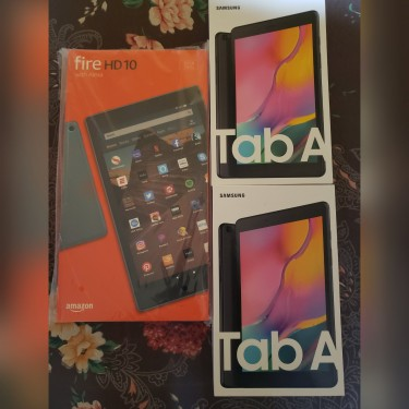 Samsung TAB A And Amazon Tablet