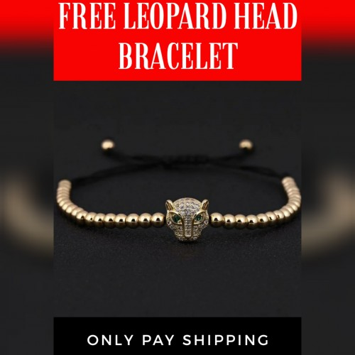 Free Leopard Head Bracelet Only Pay Shipping
