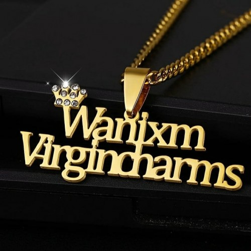 Custom Double Name Necklace With A Crown