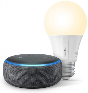 Echo Dot Smart Speaker W/ Alexa, Bluetooth Bulb