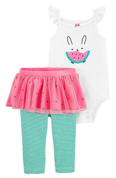 Carter's 2 Pc Watermelon Bodysuit Pants Set
