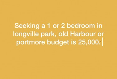 Seeking A 1 Or 2 Bedroom