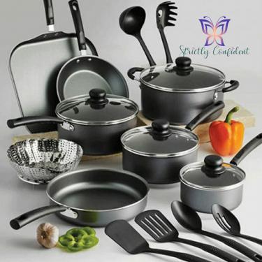 18 Piece Pots And Pans Set - New