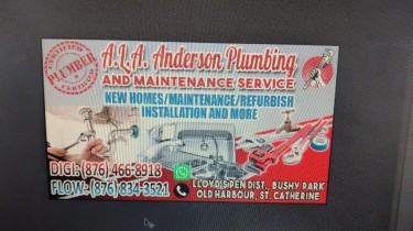A.L.A Anderson Plumbing And Maintenance Service