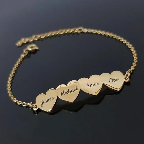 Personalized Family Members Name Bracelet