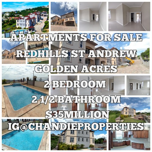 2 BEDROOM APARTMENT FOR SALE RED HILLS ST ANDREW