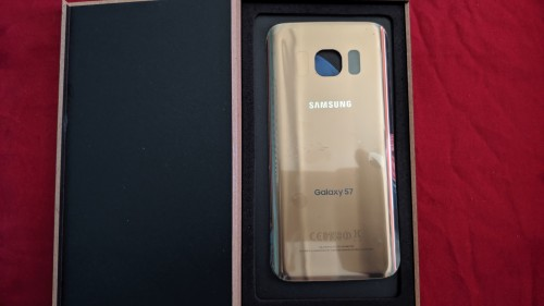 Samsung Galaxy S7 Back Glass (Gold)
