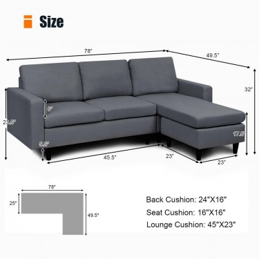 L Shape Couch Set (new)