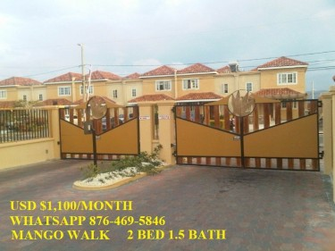 MANGO WALK.. 2 BEDROOM 2 BATH FURNISHED FOR RENT
