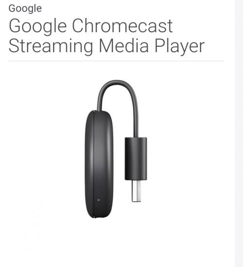 Google Chrome Cast Streaming Media