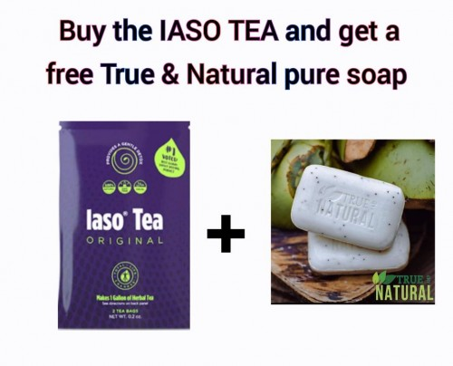 IASO TEA + True & Natural Soap Free!!