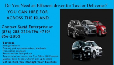 Promo: If You Need Delivery, Taxi, Or Tour Service