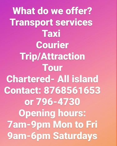 If You Need Delivery, Taxi, Or Tour Services