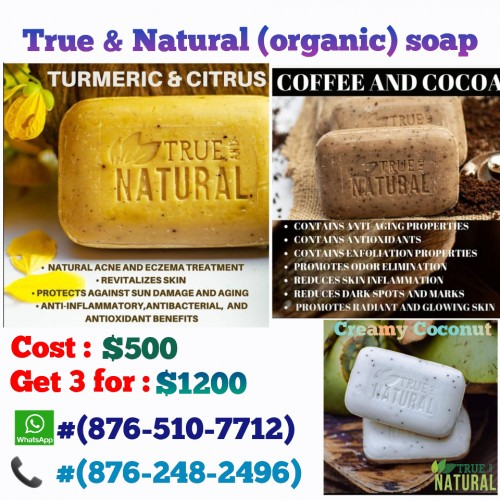 True And Natural Organicare Soaps (sale)