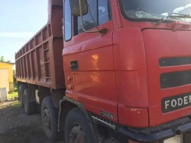 1996 Red Foden Tipper Truck