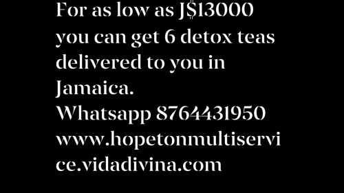 Detox And Cleansing Tea With Weight Loss Benefit