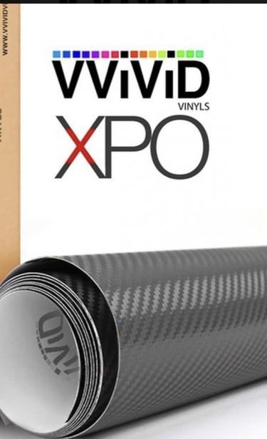 Black Carbon Fiber Wrap W/Air Release 32in X 16in