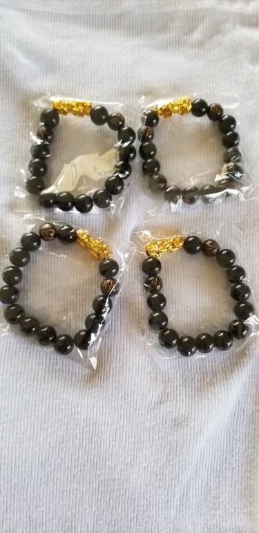 Original Feng Shui Black Obsidian Good Ck Bracelet