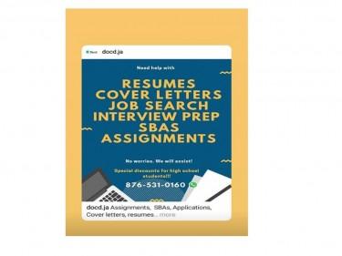 Job Serach,SBA Assignments, Interview Prep Resume