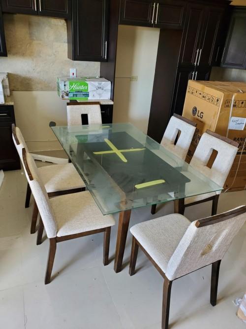 3 Piece Sofa, 6 Piece Dining Table, 3 Coffee Table