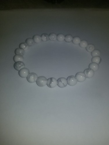 8MM White Bead Bracelet For Male And Female