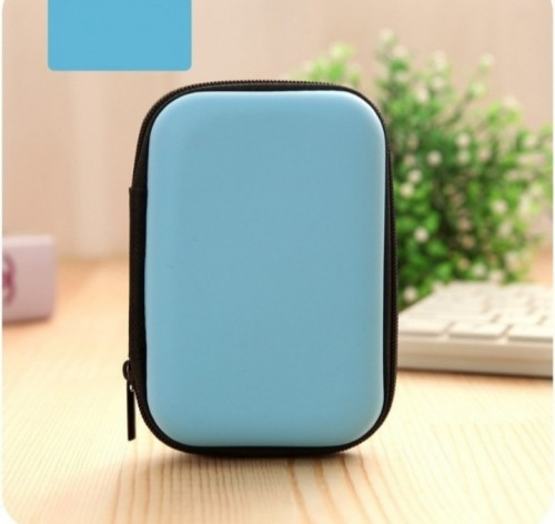 Mini Zipper Earphone And Accessory Carrying Pouch