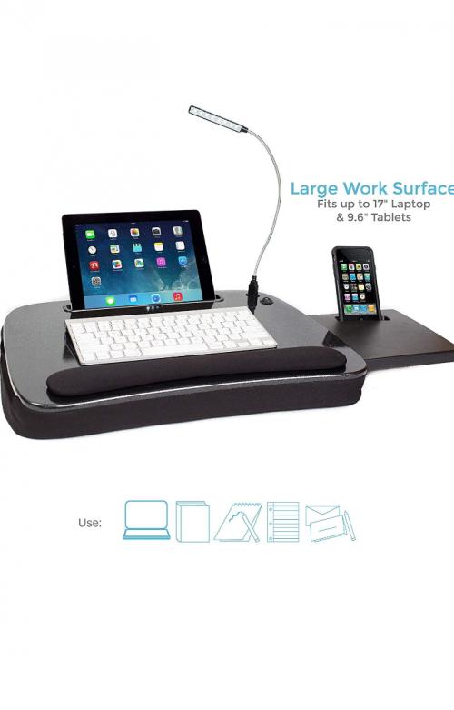 Sofia + Sam Multi Tasking Memory Foam Lap Desk Wit