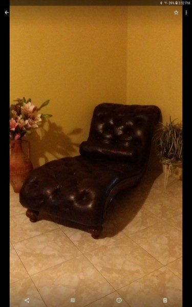Ashley Leather Chaise