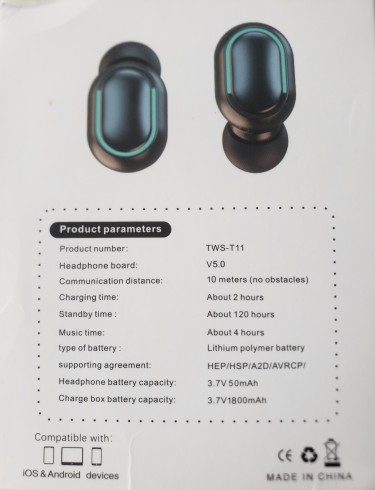 Brand New TW-T11 V5.0 Bluetooth Earbuds For Sale