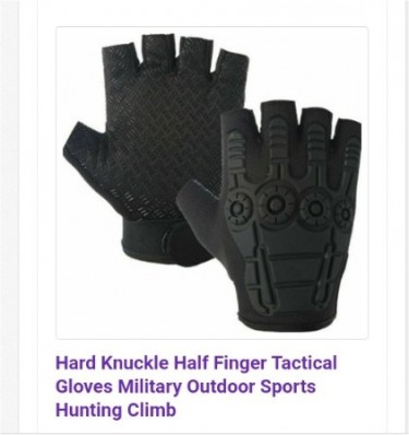 Gym/Tactical/Cycling Comfy Palm& Knuckle Resitant
