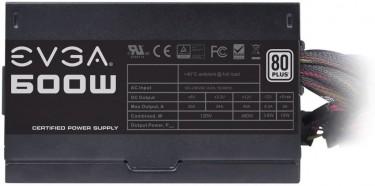 EVGA 600W 80 Plus Certified 100-W1-0600-K1 Power