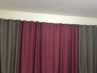 Curtain Set (drapes) Of 5 55/90Inches Each