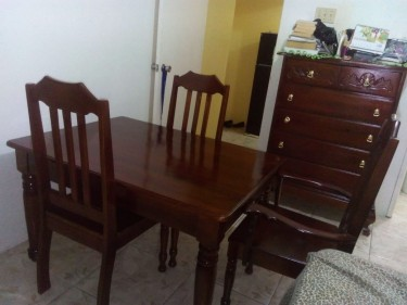 4 Seat Wooden Table