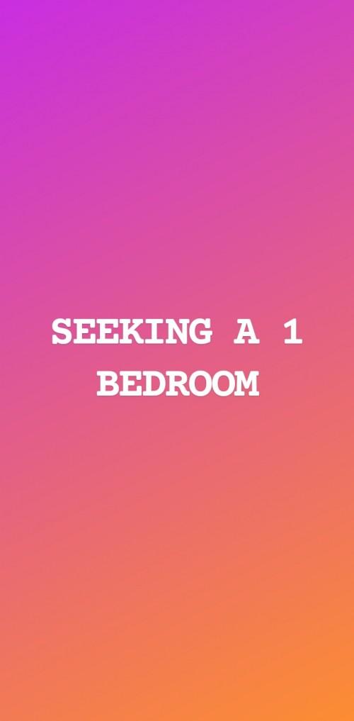 Seeking A 1 Bedroom (Own Facilities)