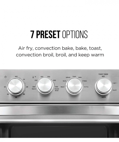 Chefman Air Fryer Toaster Oven, 6 Slice, 26 QT Con