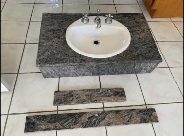 Granite Face Basin And Faucet