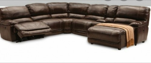 Leather 5pc Sectional Couch/settee (migration Sale