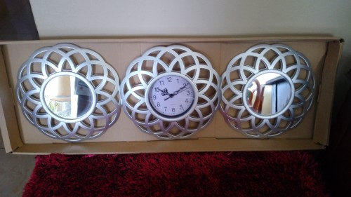 Three Piece Wall Clock