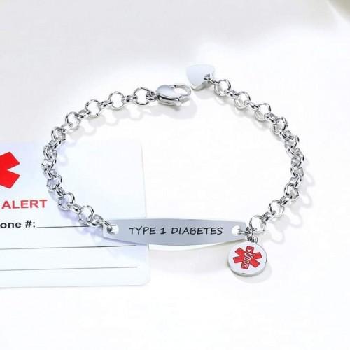 Custom Engrave Medical Alert ID Bracelets