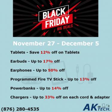 Black Friday / Cyber Monday Sale On Tablets, Etc.