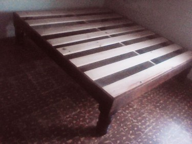 King Size Platform Bed 75 X 78.5 Call 853-3823