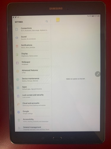 Mint Condition Samsung Galaxy Tab A With S Pen 9.7