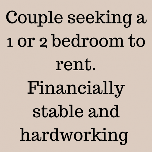 1 Or 2 Bedroom House, No Sharing