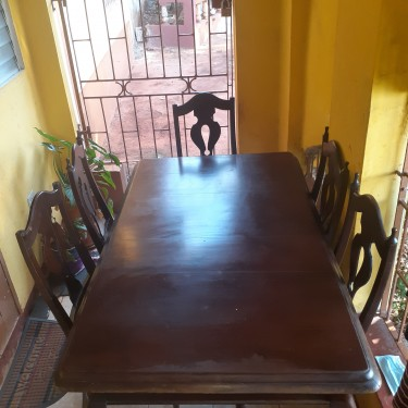 6 Piece Mahogany Dining Table (SALE)