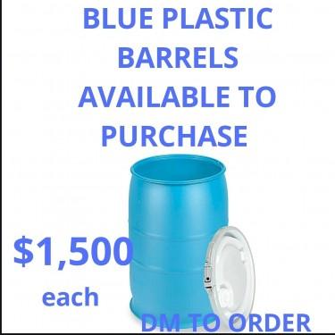 BIG BLUE BARRELS ARE AVAILABLE