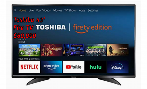 43' Toshiba Smart Fire TV With Alexa Enabled Remot